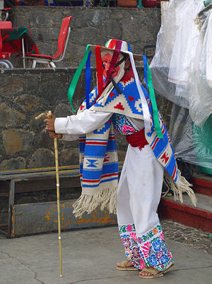 Danza de los viejitos on the island of Janitzi...
