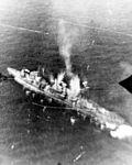 Japanese warship under attack in the Visayan Sea on 26 October 1944.jpg