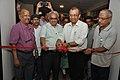 Jayanta Sengupta Cuts The Ribbon - Objects In CRTL Archive Exhibition Inauguration - NCSM - Kolkata 2018-05-18 0598.JPG