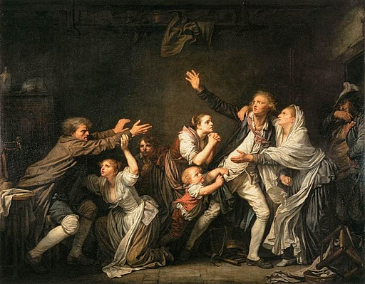 Jean-Baptiste Greuze - The Father's Curse - The Ungrateful Son - WGA10661