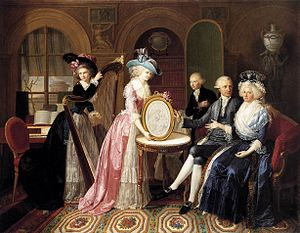 Jean-Bernard Duvivier - Portrait of the Villers Family, 1790, now in the Groeningemuseum