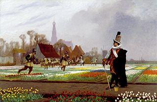 <i>The Tulip Folly</i> 1882 painting by Jean-Léon Gérôme