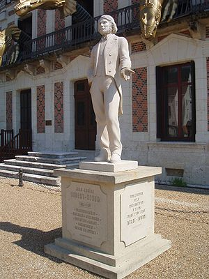 Jean Eugène Robert-Houdin - Statue in front of Robert-Houdin's home in Blois
