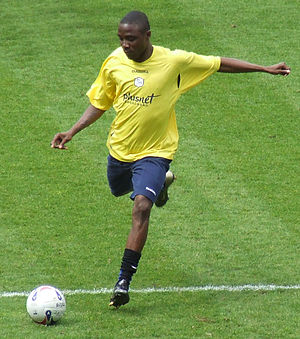 Jermaine Johnson - Johnson warming up for Sheffield Wednesday