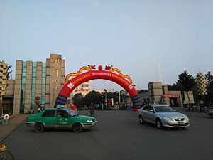 Ji'an - Jinggangshan University school gate