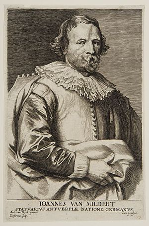 Johannes van Mildert - Portrait of Johannes van Mildert, etching by Lucas Vorsterman after a drawing by Anthony van Dyck for van Dyck's Iconography