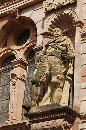 John Casimir of the Palatinate-Simmern - Statue of John Casimir in Heidelberg Castle