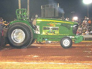 National Tractor Pullers Association - A John Deere pulling tractor.