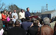 In a speech given at the Musicians' Village in New Orleans, Edwards announced his withdrawal from the 2008 United States presidential race.