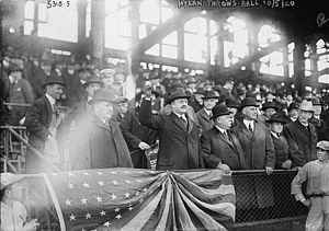 John Francis Hylan - Hylan attending the 1920 World Series at Ebbets Field.