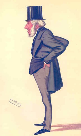 John Hubbard, 1st Baron Addington - Caricature by Spy published in Vanity Fair in 1884.