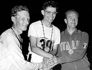 Don Thompson (racewalker) - John Ljunggren, Don Thompson and Abdon Pamich at the 1960 Olympics