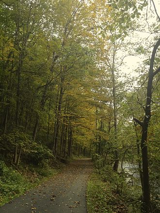 Lehigh County, Pennsylvania - Jordan Creek Greenway along Jordan Creek in Lehigh County