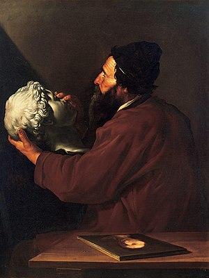Giovanni Gonelli - Jusepe de RiberaThe Sense of Touch, also known as portrait of Giovanni Gonnelli