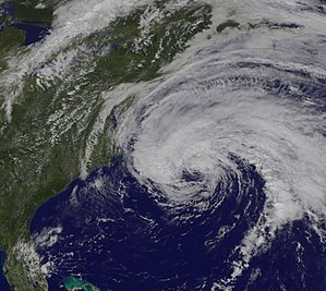Hurricane Jose (2017) - Hurricane Jose off the coast of the Eastern United States on September 18