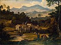 Joseph Anton Koch - Monastery of San Francesco di Civitella in the Sabine Mountains - WGA12231.jpg