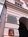 Joseph Conrad Lived Here - Facade with Plaque - Old Town - Warsaw - Poland (9251156524).jpg