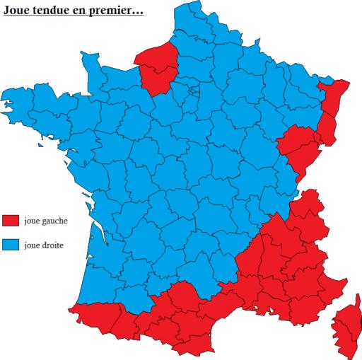 Joue tendue en premier pour faire la bise en France