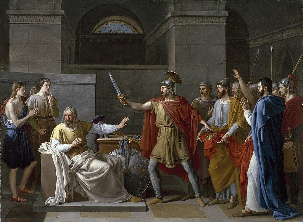 Juan Antonio Ribera: Wamba renunciando a la corona (1819).