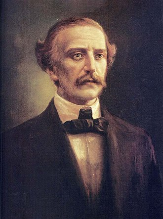 Juan Pablo Duarte - Juan Pablo Duarte, Oil portrait by the Dominican painter Abelardo Rodríguez Urdaneta.
