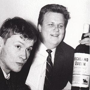 """Juha Vainio - Laitinen in the song """"Vanha salakuljettaja Laitinen"""" was named after Keijo Laitinen (right). Juha Vainio on the left."""