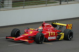 Justin Wilson (racing driver) - Wilson practising for the 2008 Indianapolis 500