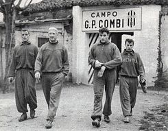Juventus 1957-58 - Training Session - Charles, Broćić, Mattrel, Stacchini.jpg