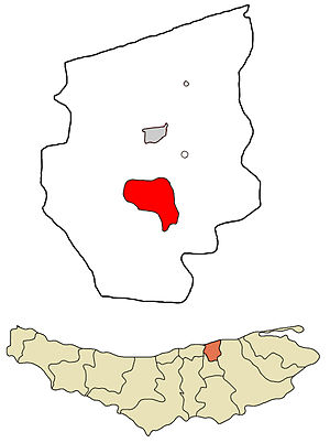 Juybar - Image: Juybar County Incorporated Areas Juybar highlighted