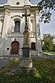 Kříž před kostelem, Vrahovice, Prostějov.jpg