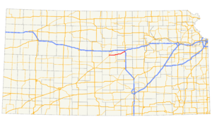 K-140 (Kansas highway) - Image: K 140 map