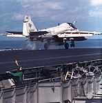 KA-6D Intruder of VA-185 is launched from USS Midway (CV-41) in 1991.jpg