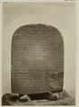 KITLV 28241 - Isidore van Kinsbergen - Inscription on the back of a sculpture of Ganesh at the residency in Kediri - 1867-08-1867-09.tif