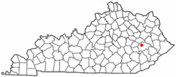 Location of Jackson, Kentucky