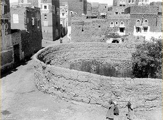 Al–Qalis Church, Sana'a - Remains of the church in 1942.