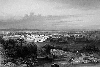 Kano - 1850 steel engraving of Kano