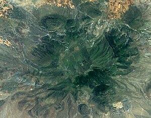 Landsat-Aufnahme des Karadağ