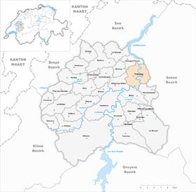 Karte von FreiburgFribourg
