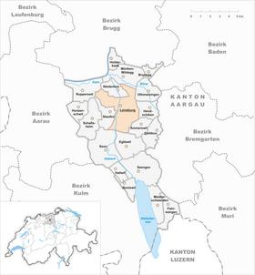Karte von Lenzburg