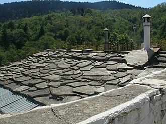 Kastanitsa - A typical Kastaniot roof.