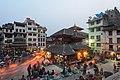 Kathmandu Durbar Square at dusk (17664887719).jpg
