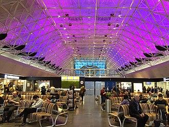 Keflavík International Airport - Main waiting area.
