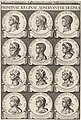 Keizers en koningen, medaillons 6-71, blad 3 Keizers en koningen (serietitel), RP-P-OB-70.305.jpg