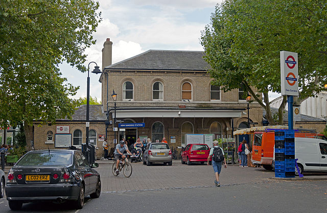 Kew Gardens railway station, London