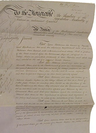 Public Record Office Victoria - Petition to the Government of Victoria regarding the proposed Kew Lunatic Asylum