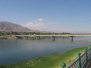 Syr Darya - Syr Darya River at Khujand