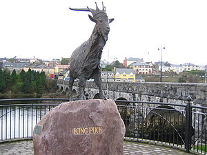 King Puck statue in Killorglin, County Kerry, ...