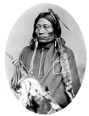 English: Essa-queta, Kiowa Apache chief.