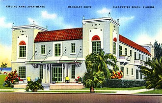 John Berryman - Kipling Arms Apartments, Mandalay Drive, Clearwater Beach, Florida
