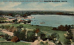 Kite Photo of Reeds Lake and Ramona Park, Grand Rapids MI. Postcard - 001.jpeg