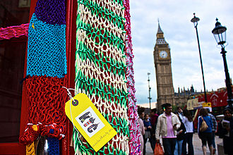 Knit the City - Knit the City Phonebox Cosy, London, Parliament Square
